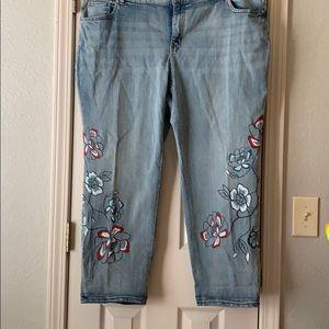 Style &Co Boyfriend Cropped Jean